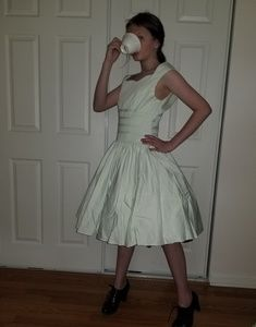 Reproduction fifties style dress mint green cotton